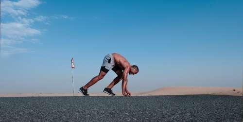 man ready run fast speed