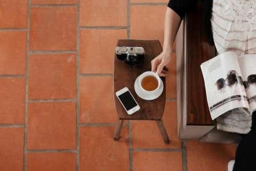 coffee cafe wood hot mug