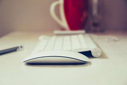 keyboard mouse office desk technology