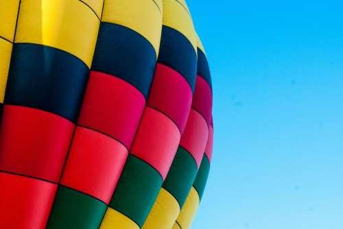 hot air balloon blue sky travel transportation