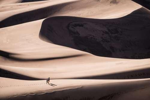 nature landscape desert sand dunes