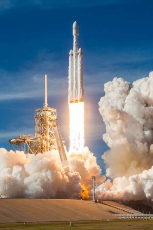 space rocket liftoff launch fire