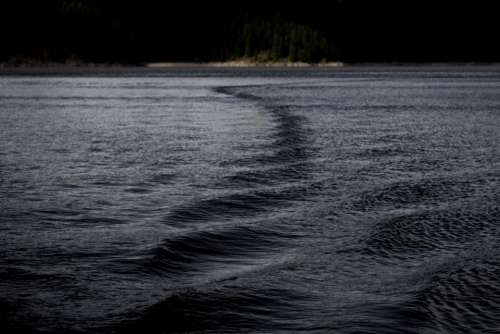 sea ocean water dark night