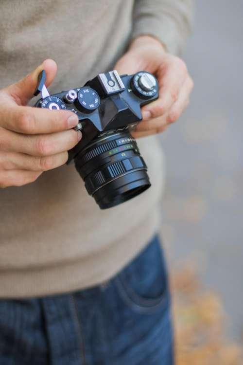 camera dslr black photography people