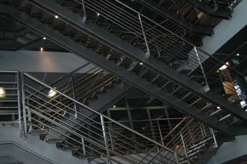 buildings urban stairs staircase metal