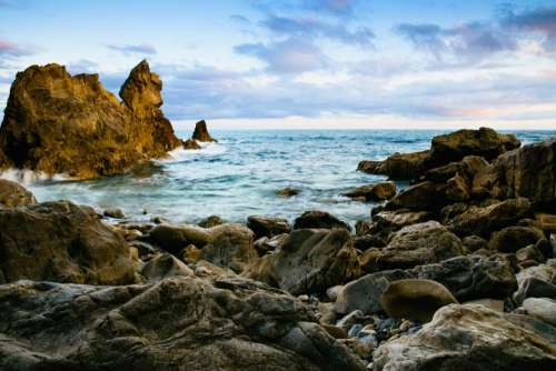 nature coast islands rocks water