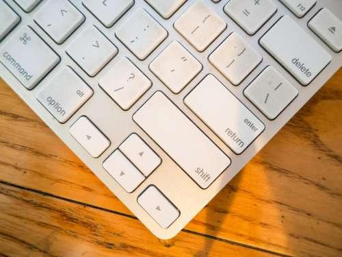 keyboard office desk business technology