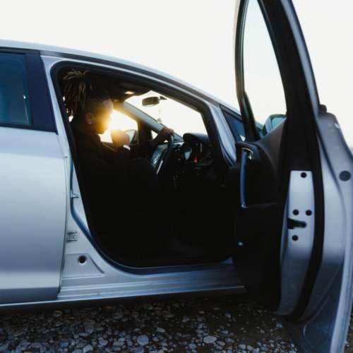 drive car man auto car door