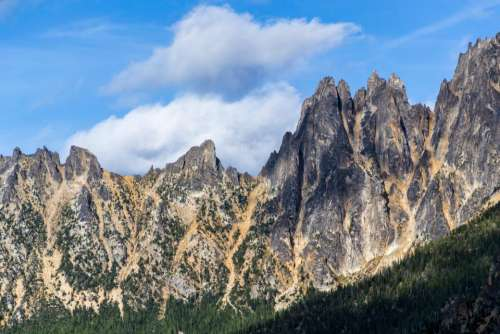 mountain valley rocks hill landscape