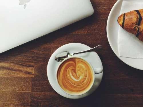 coffee latte espresso cafe croissant