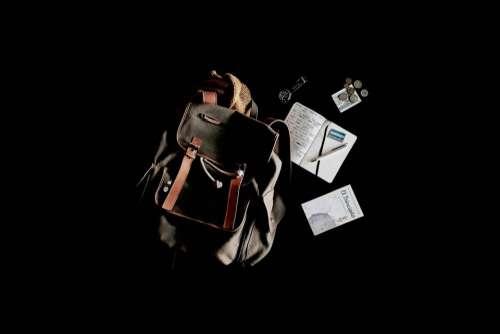 travel bag backpack notebook book
