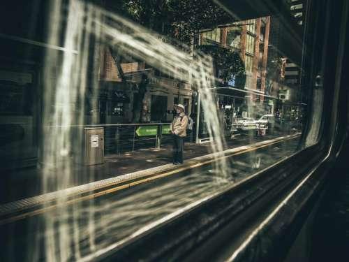 people old man waiting train
