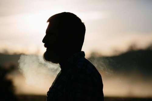 people man dark smoke blur