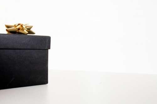 gift box black ribbon party