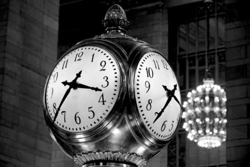 vintage clock black and white chandelier light