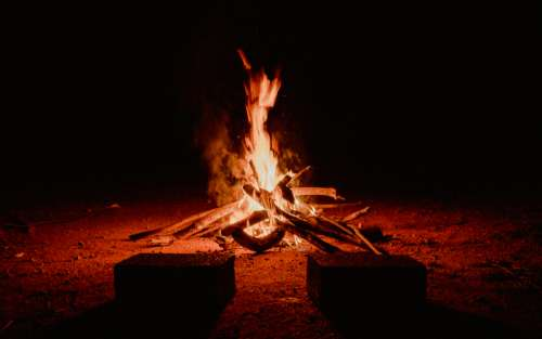 fire bbq night bonfire blaze