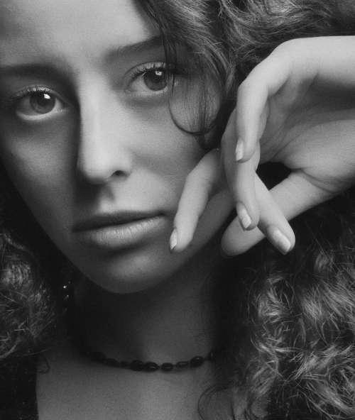 portrait girl studio female woman