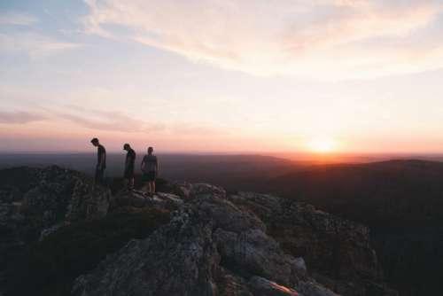 sunrise sunset mountain highland view
