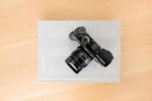camera lens photography table office