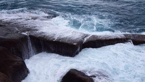 ocean sea water waves storm