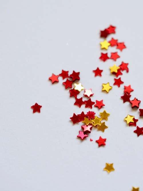 stars desk close up shiny crafts