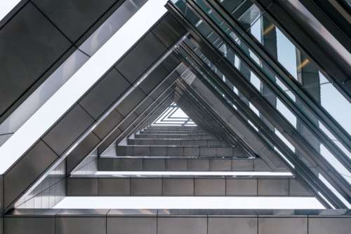 architecture triangles modern patterns structure