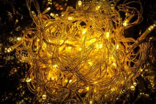 christmas lights decor ornaments material