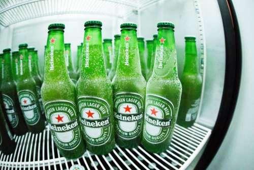 bottles fridge green drinks beverages