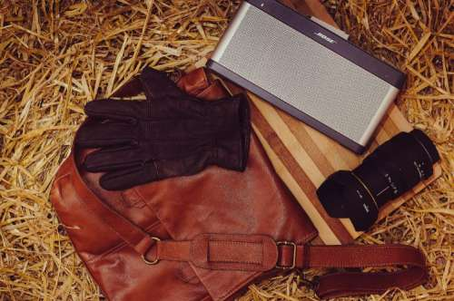 farm lens bag leather speakers