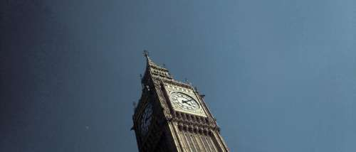 big ben london side -view uk gb