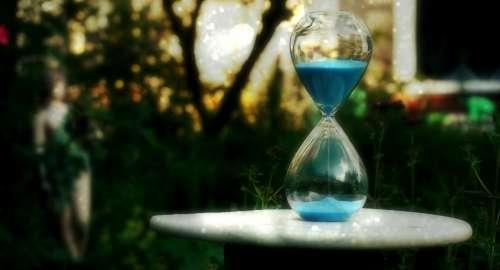 hour glass timer garden yard table