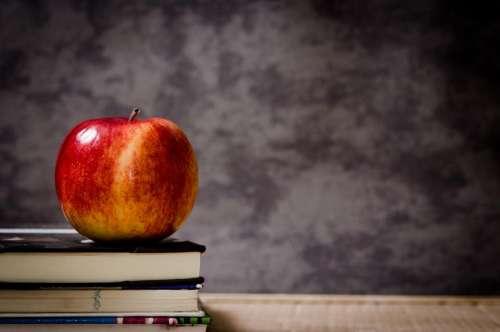 apple textbooks books class classroom