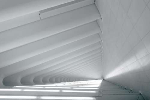 modern architecture clean monochrome structure