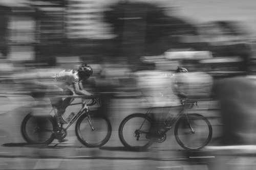 motion people man bicycle bike