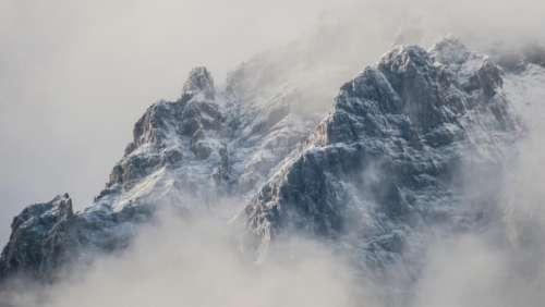 mountain valley rock landscape nature