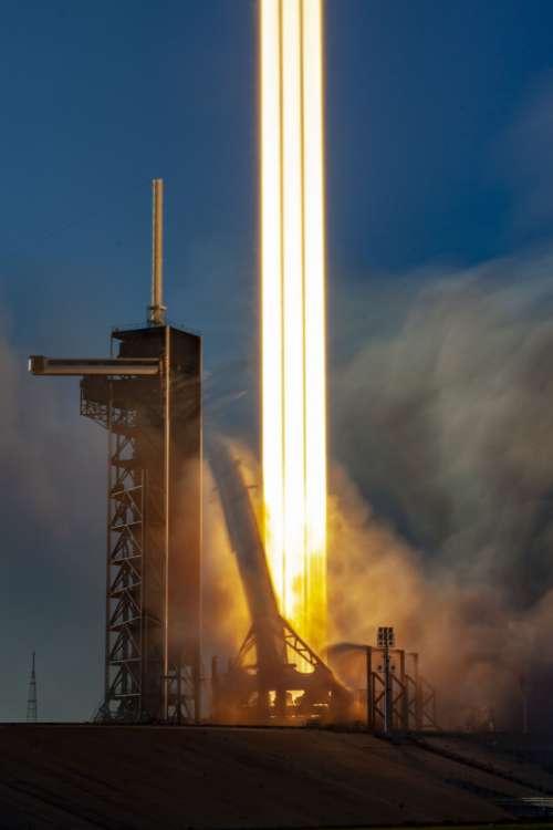rocket launch liftoff fire thrust