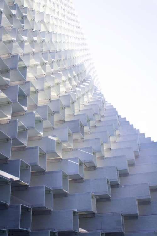 white block architecture stacked modern