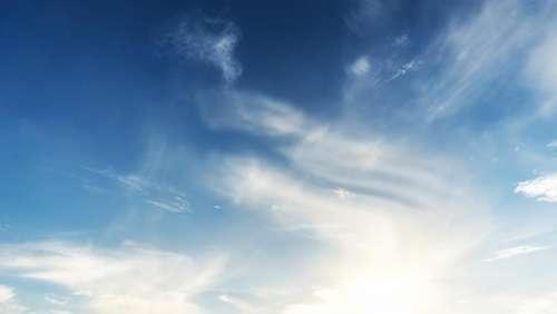 blue sky clouds nature