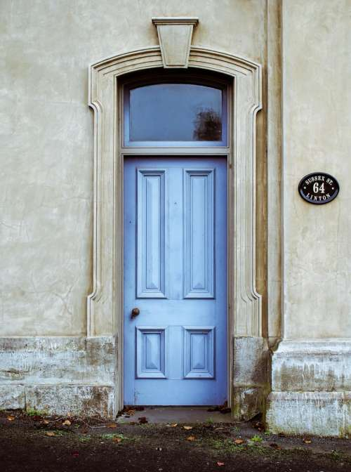 blue door people places travel