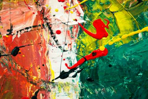 abstract art painting canvas close up