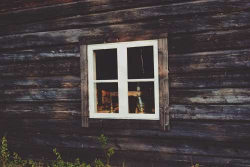 wooden wall window house