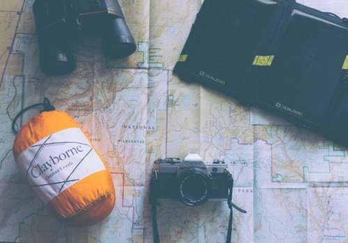 camera canon lens photography map