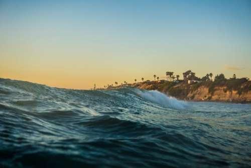 sunset sunshine ocean sea water