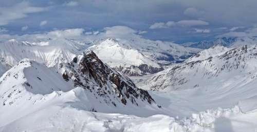 mountain landscape peak summit trees