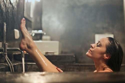 woman bath wash clean girl