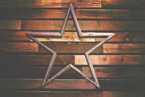 wooden wall star christmas season