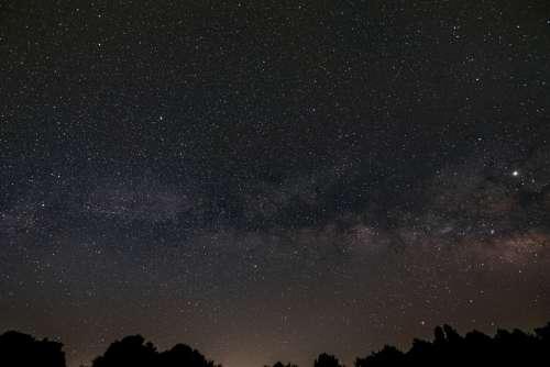 night starry sky galaxy space