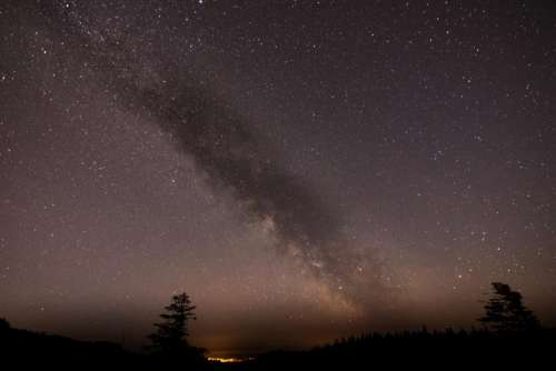 dark night sky stars light