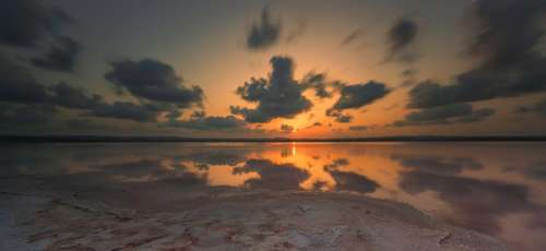 sea ocean water nature sunset