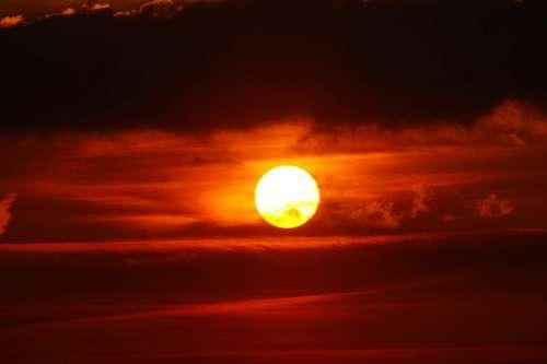nature sky clouds sun dusk